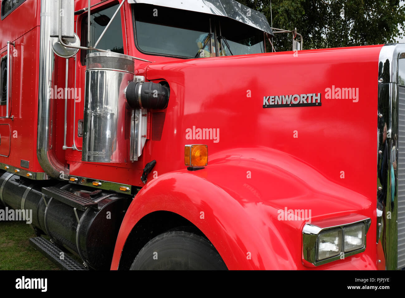 Kenworth is a global manufacturer of medium and heavy-duty Class 8 trucks - Stock Image