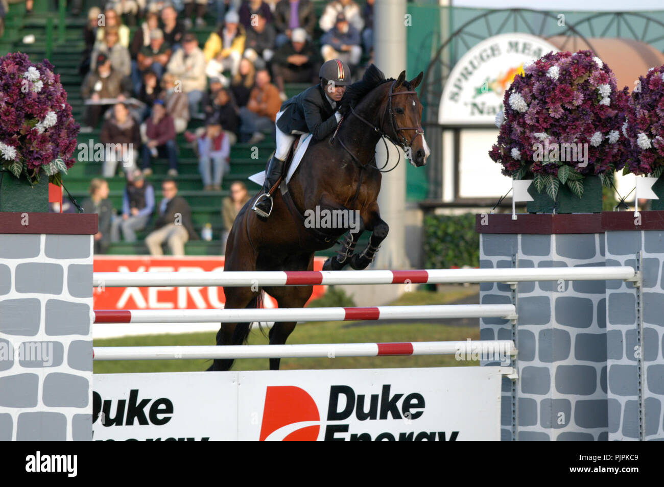 The National, Spruce Meadows June 2002, Beezie Madden (USA) riding Authentic Stock Photo