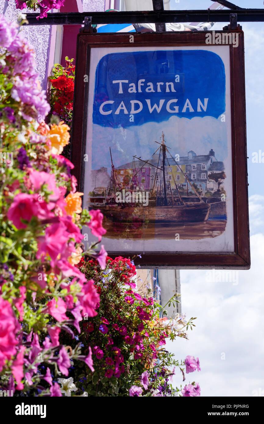 Tafarn y Cadwgan Public House Aberaeron Ceredigion Wales - Stock Image