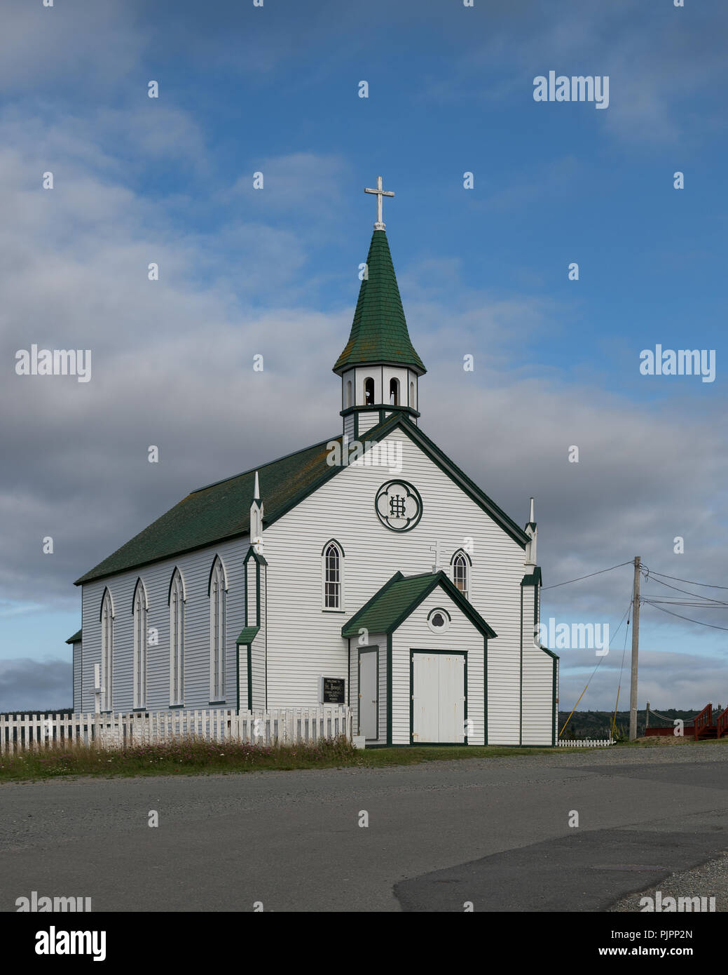 Exterior of the historic Saint Joseph's Roman Catholic Church on Chapel Hill in Bonavista, Newfoundland and Labrador - Stock Image