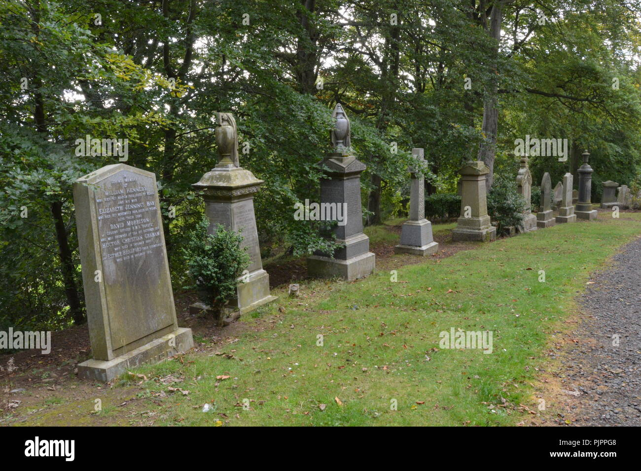 Balgay Cemetery,, Dundee, Scotland, September 2018 - Stock Image