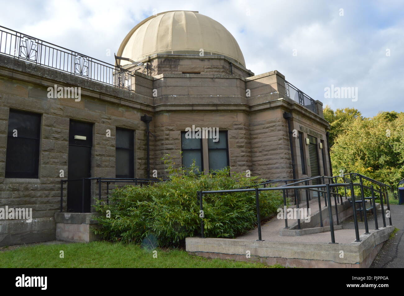 Mills Observatory on Balgay Hill, Dundee, Scotland, September 2018 - Stock Image