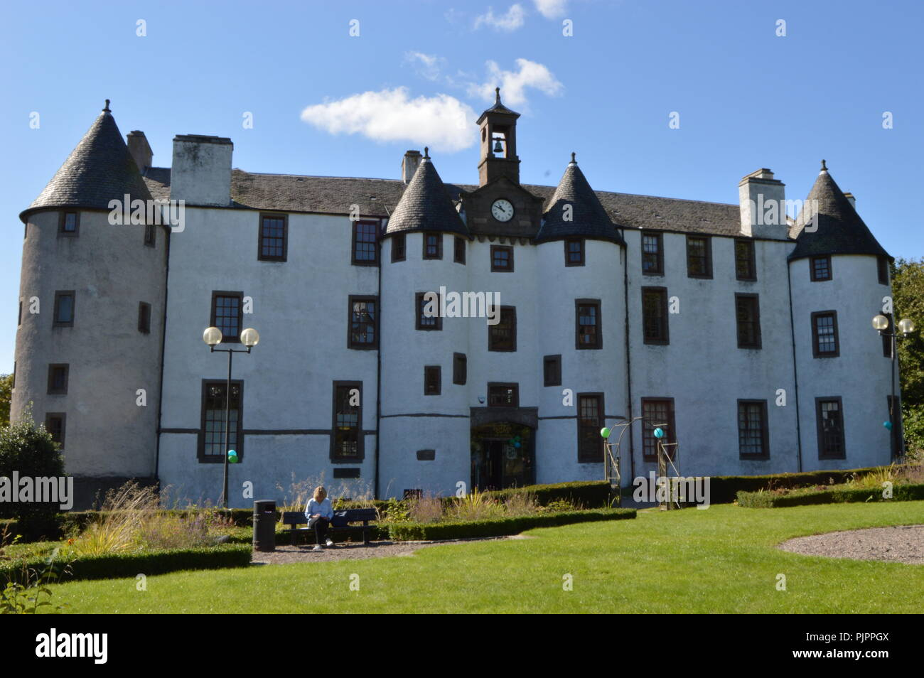 Dudhope Castle, ancient seat of the Scrimgeour Family, Dundee, Scotland, September 2018 - Stock Image