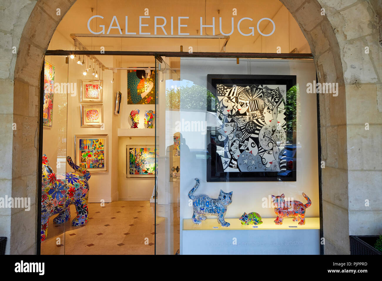 Galerie Hugo in Place des Vosges, the oldest planned square in Paris, Marais district, Paris, France, Europe Stock Photo