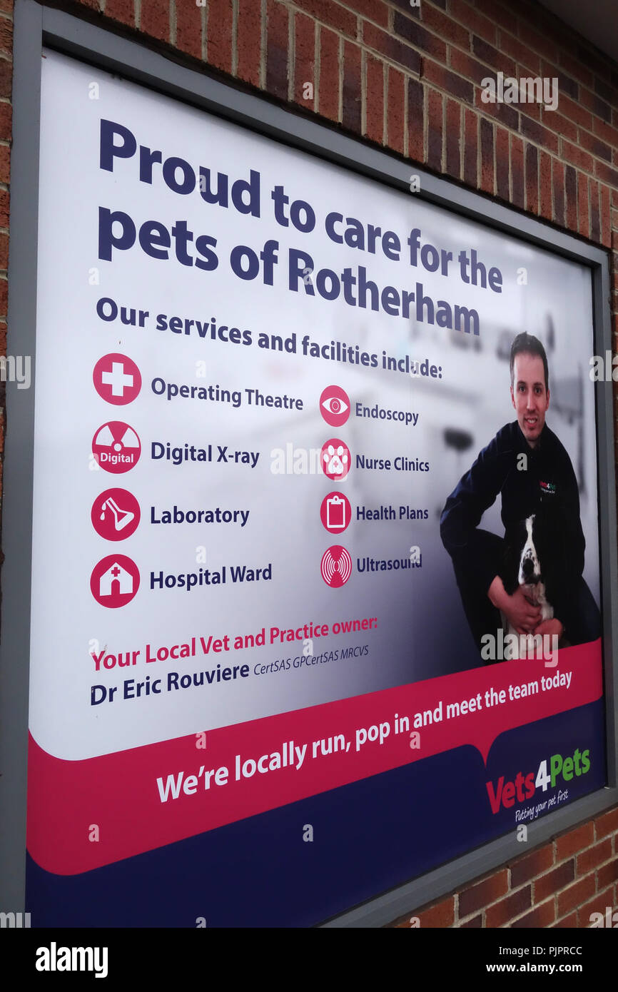 Vets4Pets veterinary surgery in Rotherham - Stock Image