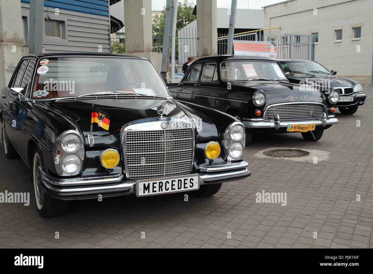 Retromotorfest, Vintage car festival. Stock Photo