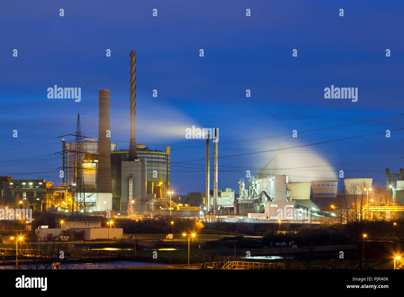 Industry view in Duisburg, Germany. - Stock Image