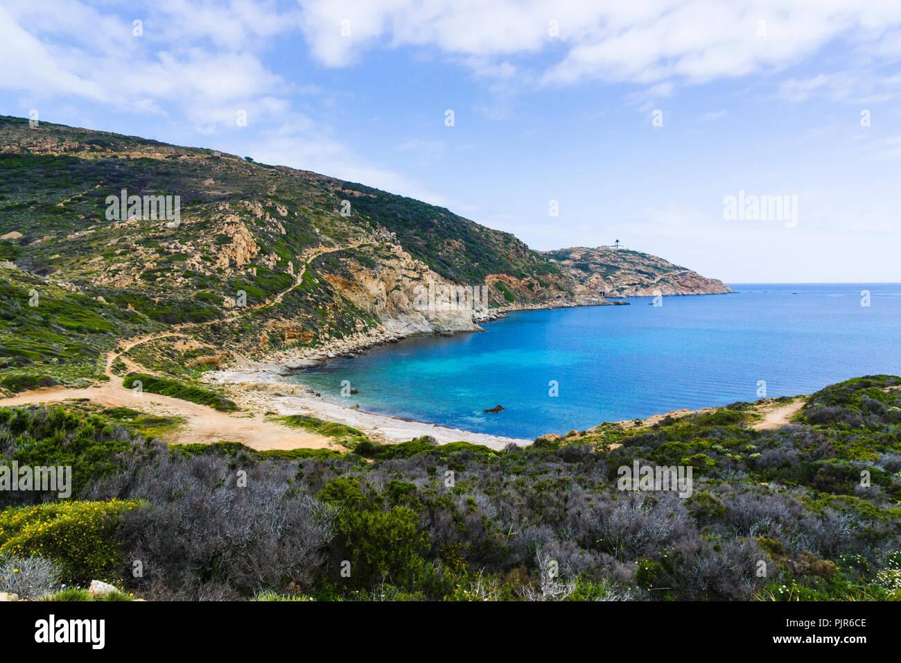 Pointe de la Revellata, Calvi, Corsica, France - Stock Image