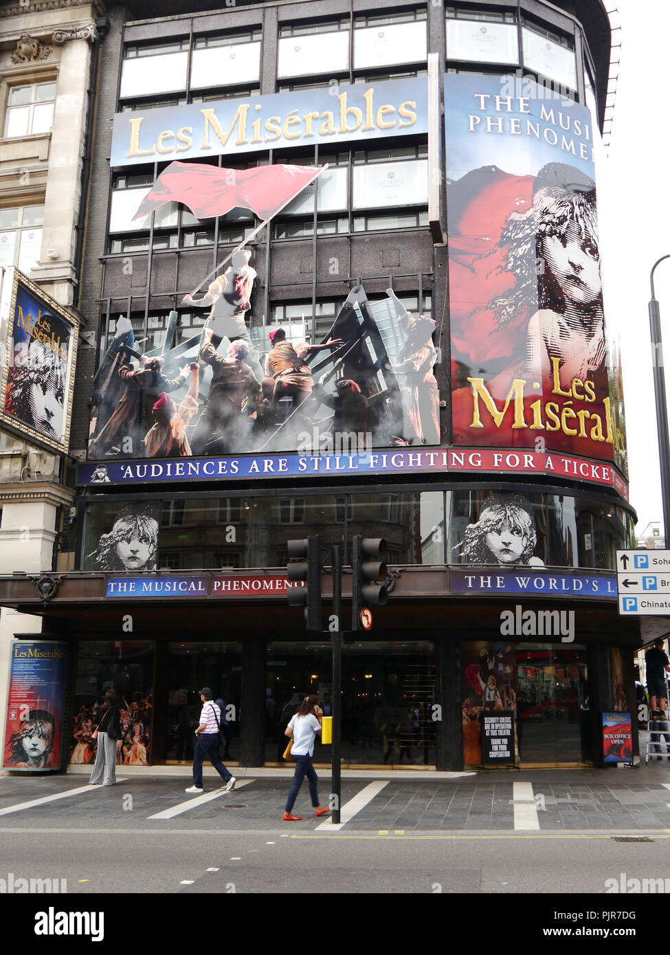 The Queens theatre, London, showing the musical Les Miserables - Stock Image