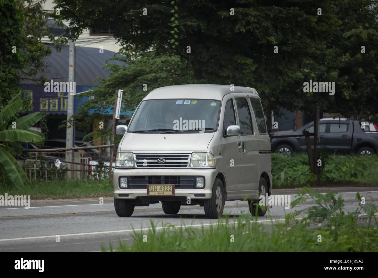 Chiangmai Thailand August 6 2018 Private Daihatsu Old Van Car
