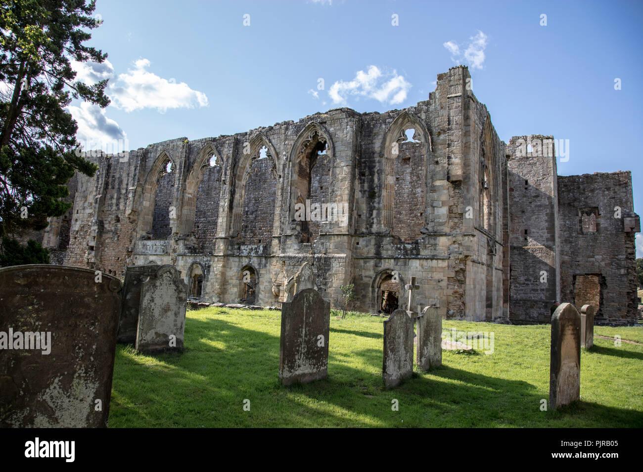 Easby Abbey near Richmond, Yorkshire - Stock Image