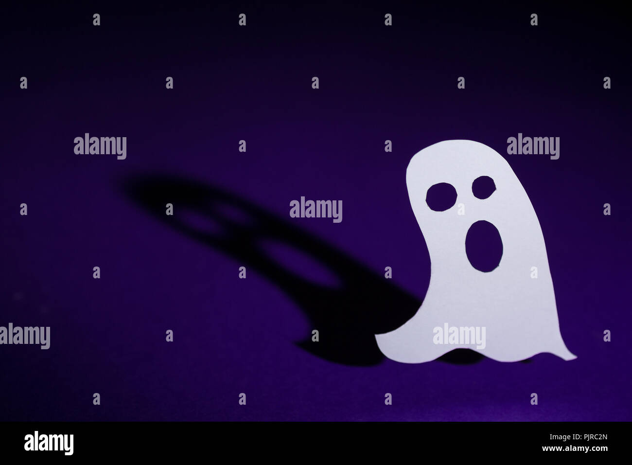 halloween background decoration holiday concept cut out paper ghost