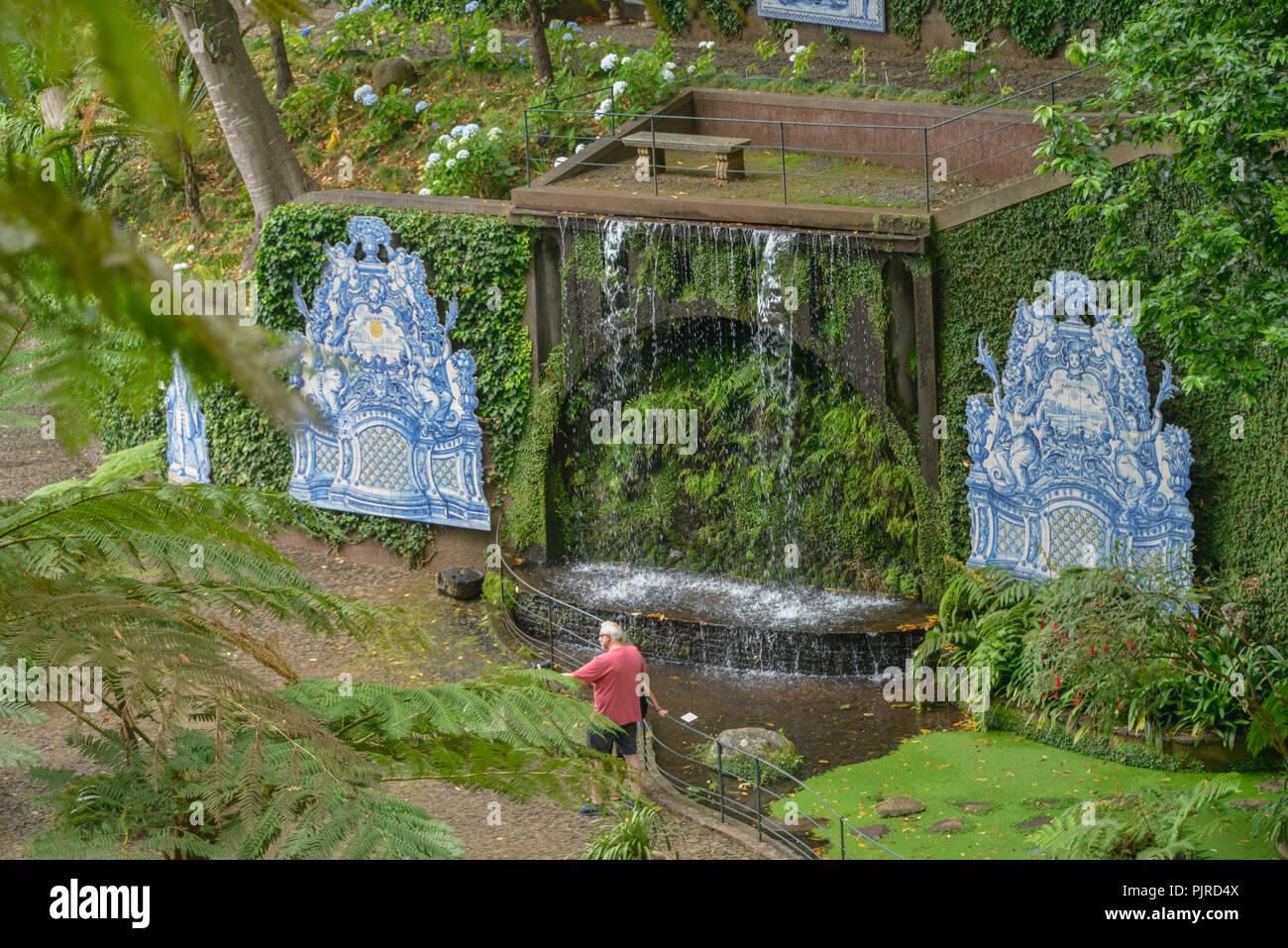 Azulejos, Monte Palace Tropical Garden, Monte, Funchal, Madeira, Portugal