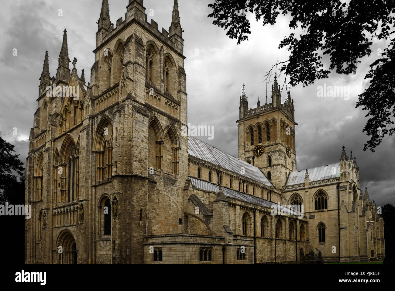 Selby Abbey is now an Anglican parish church in the town of Selby, North Yorkshire, and is a rare example of an abbey church of the medieval period. - Stock Image