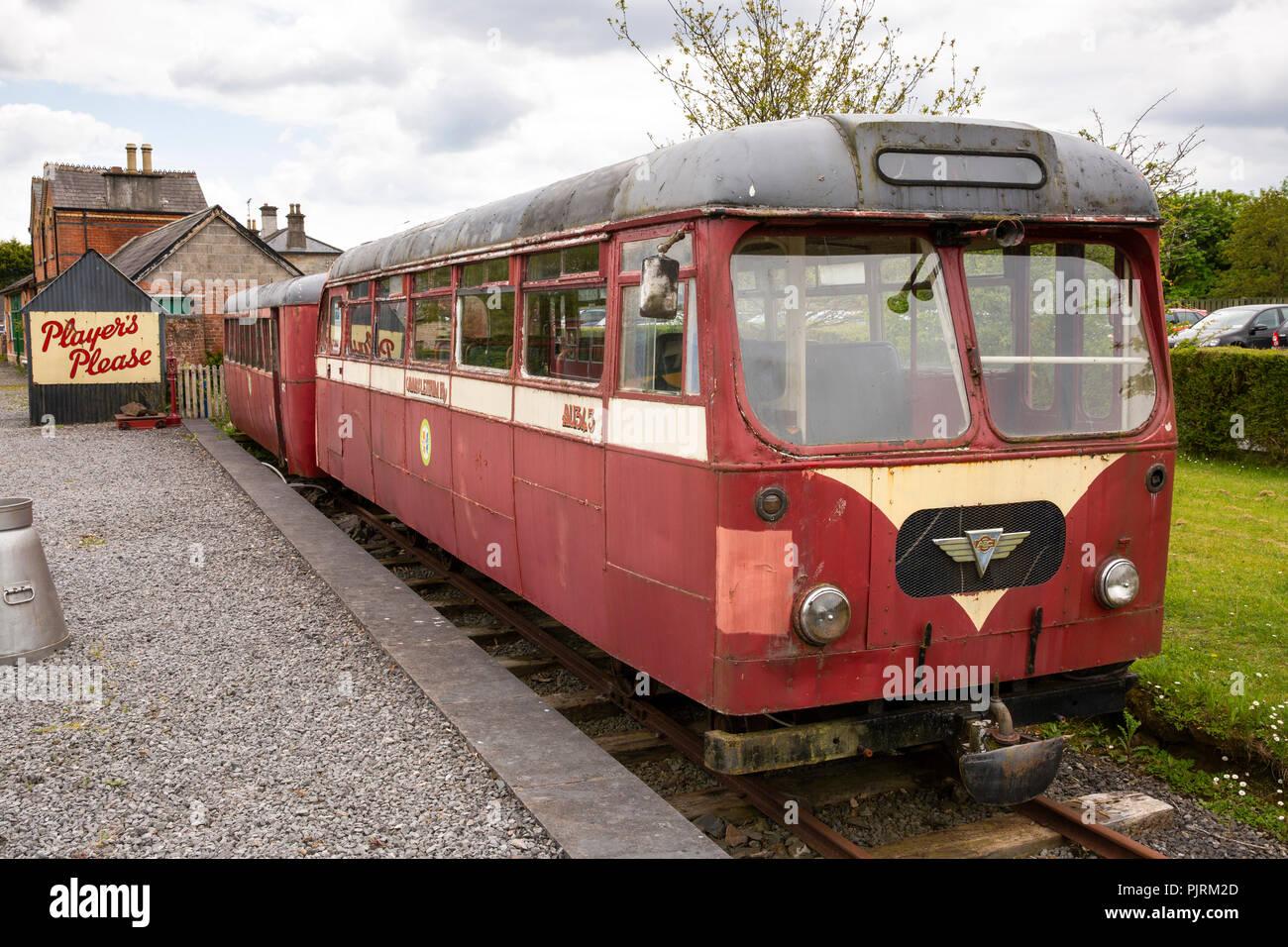 Ireland, Co Leitrim, Dromod, Cavan and Leitrim railway museum 1950s GNR(I) AEC Diesel Railcar - Stock Image
