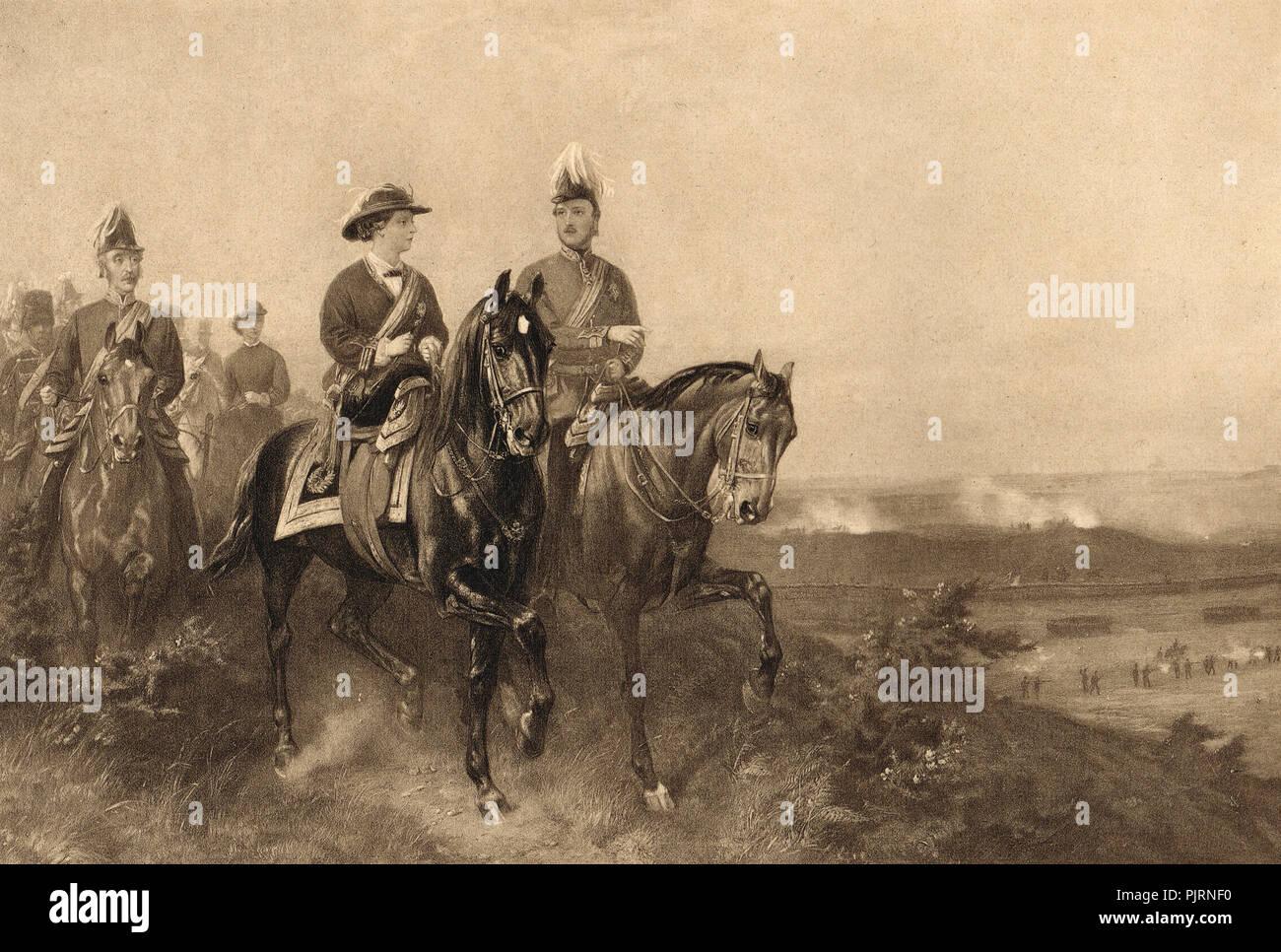Queen Victoria and Prince Albert at Aldershot, 9 July 1859 - Stock Image