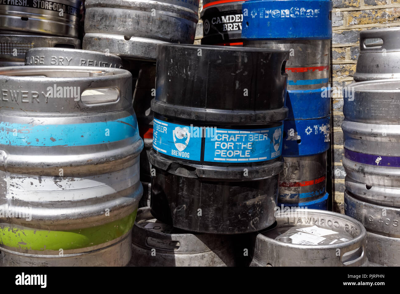 British beer casks - Stock Image