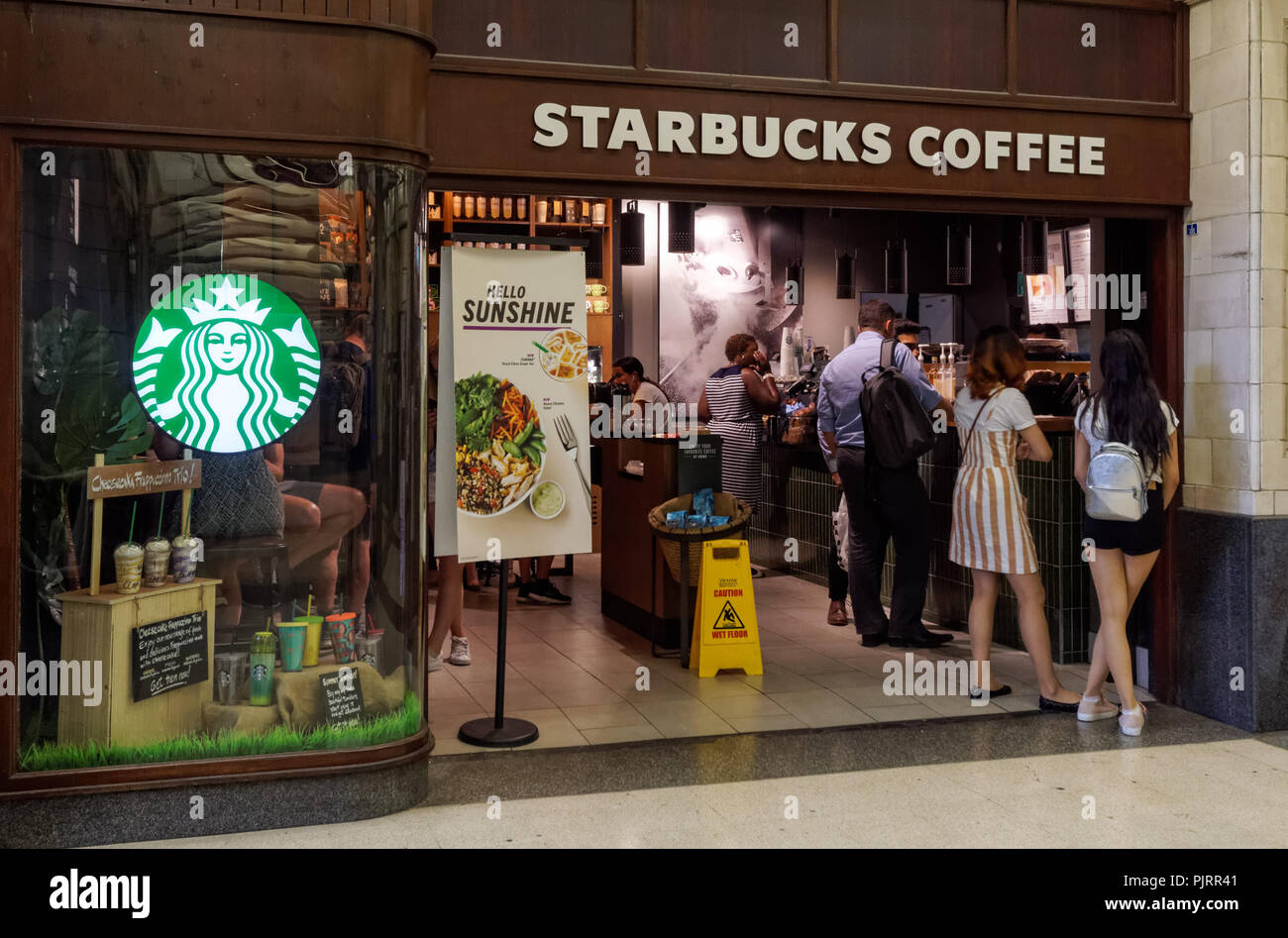 Starbucks Coffee Cafe In London England United Kingdom Uk