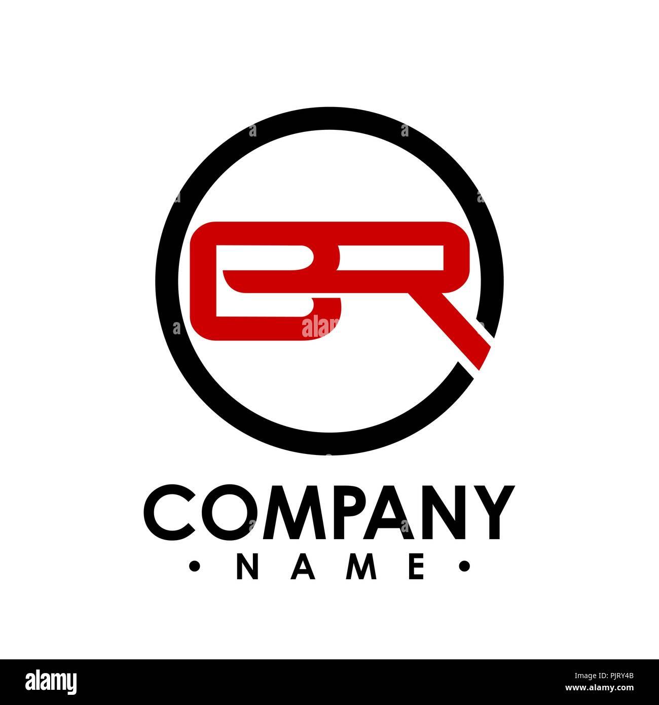 br letter with circle shape logo design vector illustration template b letter logo vector letter b and r logo vector creative letter br letter logo