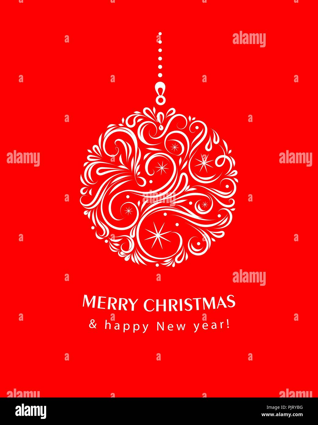 White christmas ball on red background eps 10 vector illustration white christmas ball on red background eps 10 vector illustration usable for banners greeting cards gifts etc ector christmas greeting card with m4hsunfo
