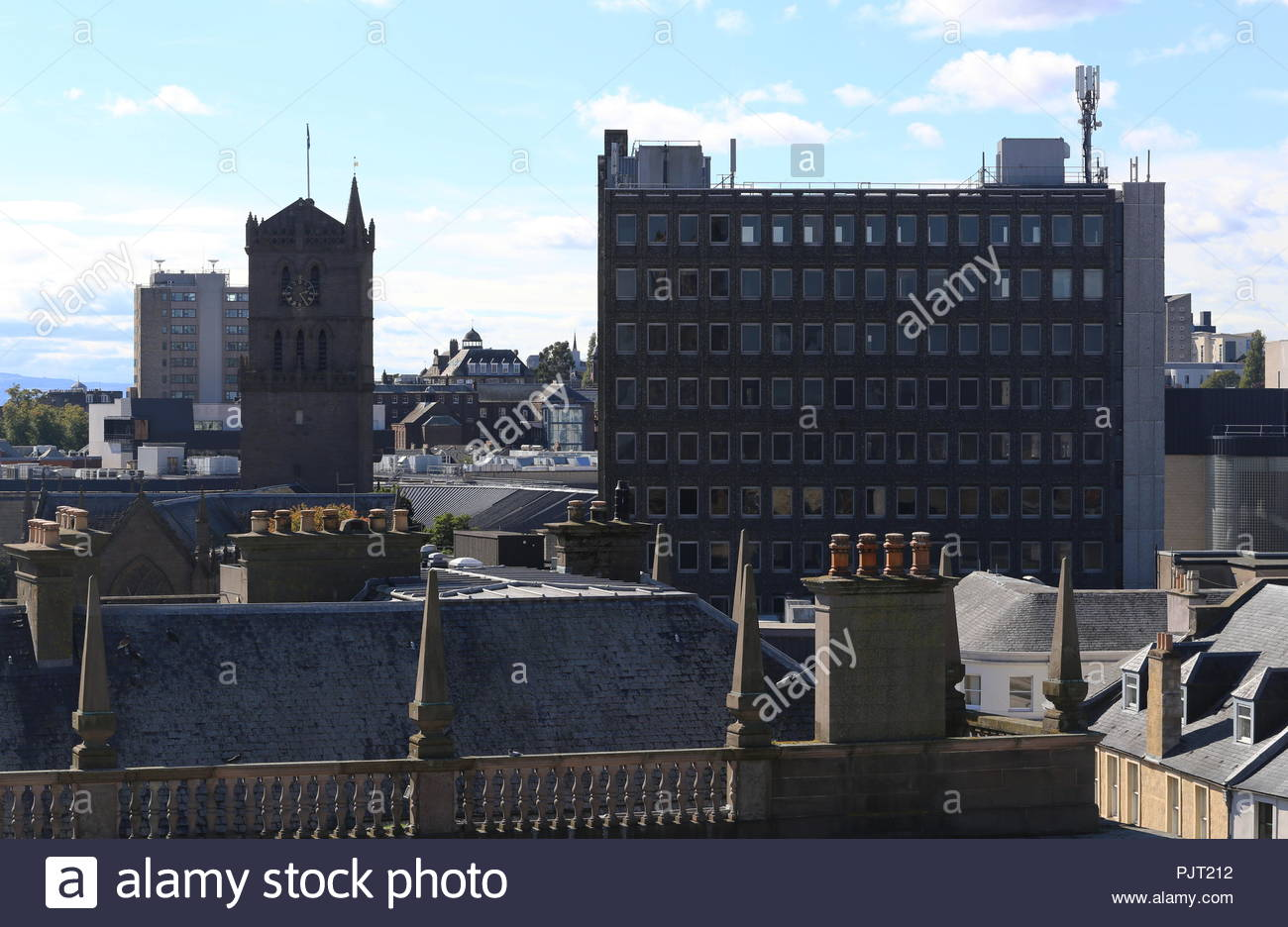 City House office block part of Overgate Centre and St Marys Tower Dundee Scotland  September 2018 - Stock Image