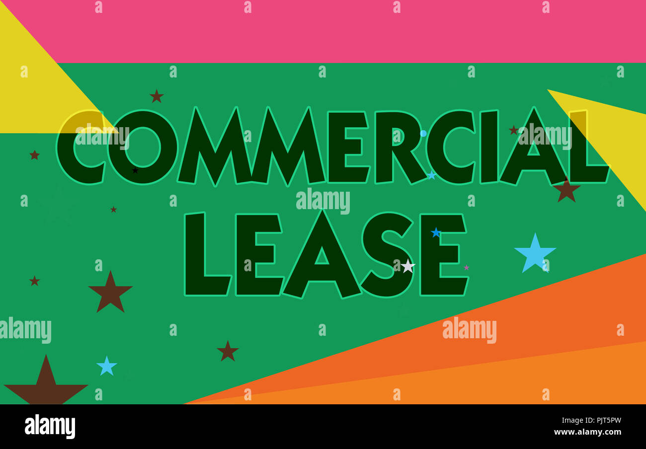 Word writing text Commercial Lease  Business concept for refers to