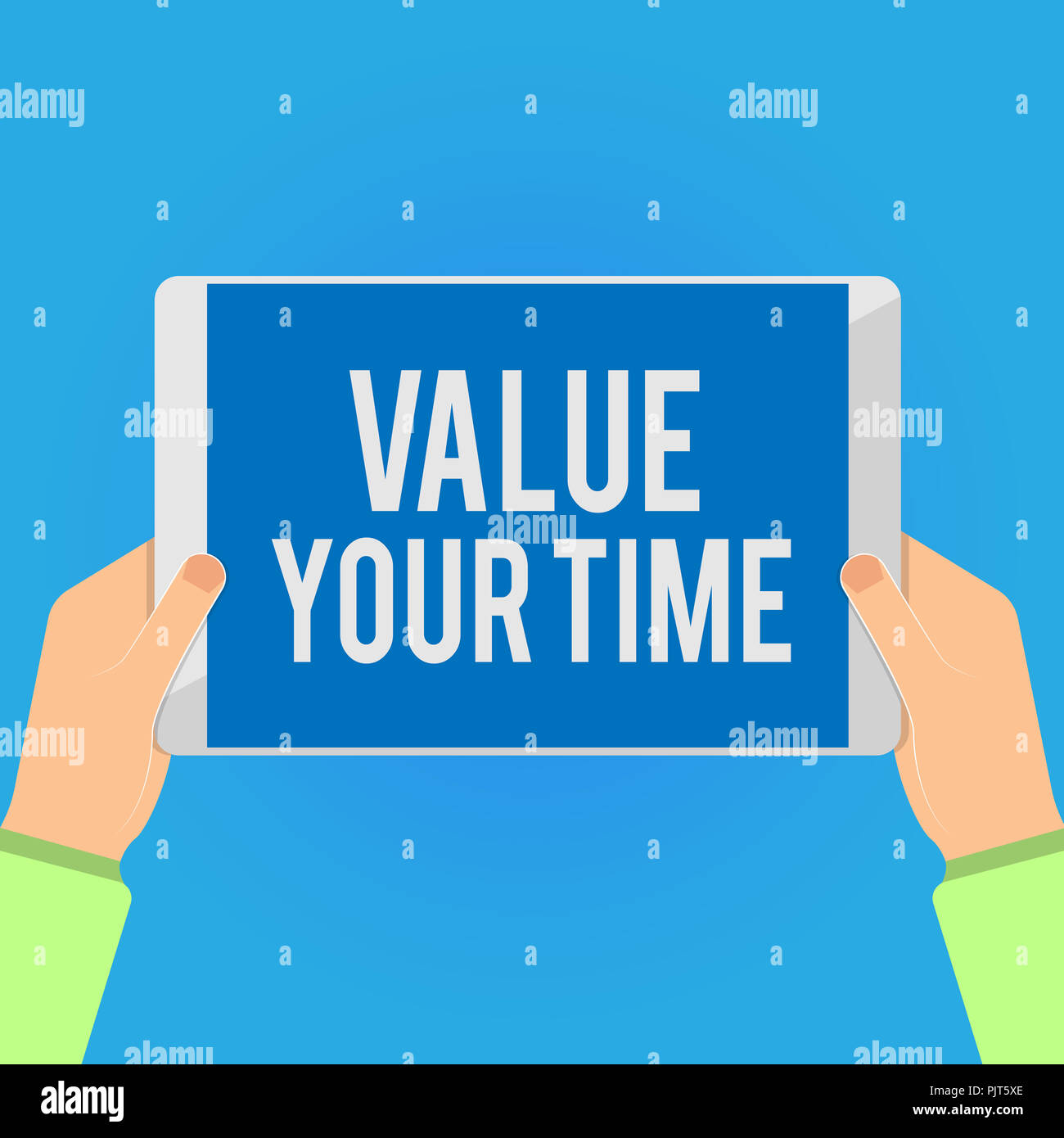 Writing note showing Value Your Time  Business photo showcasing