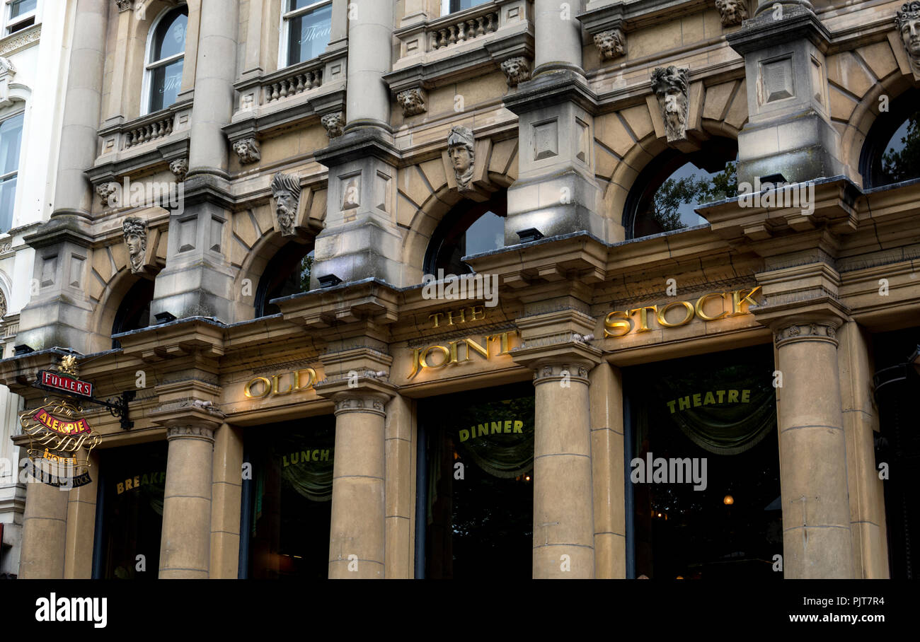 The Old Joint Stock pub and theatre, Temple Row West, Birmingham, UK - Stock Image