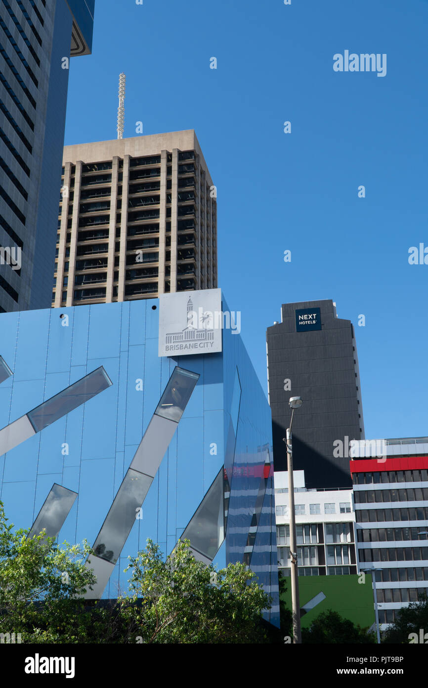 modern buildings in the centre of Brisbane - Stock Image