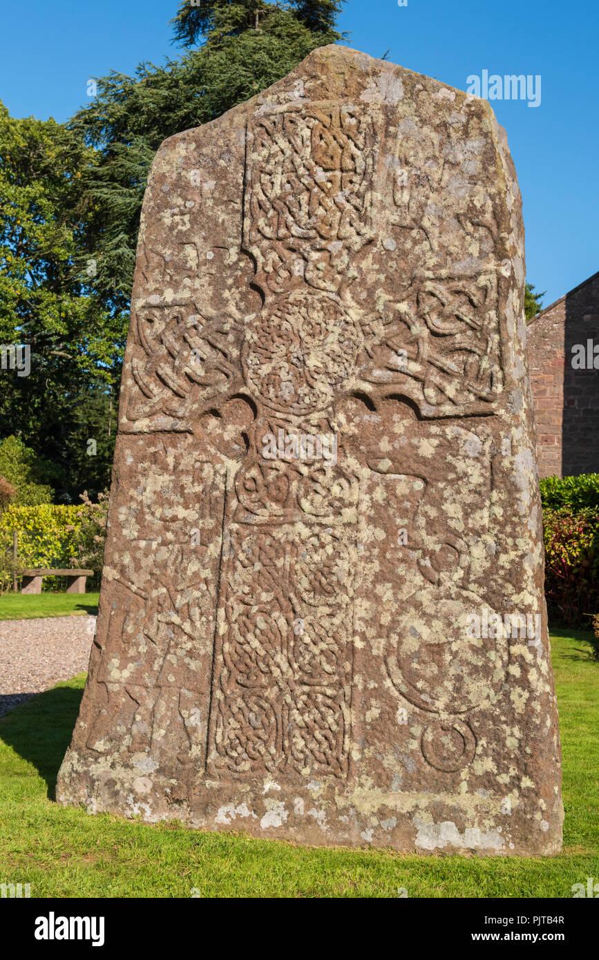 Glamis Manse Pictish Stone, Glamis, Angus, Scotland. Stock Photo