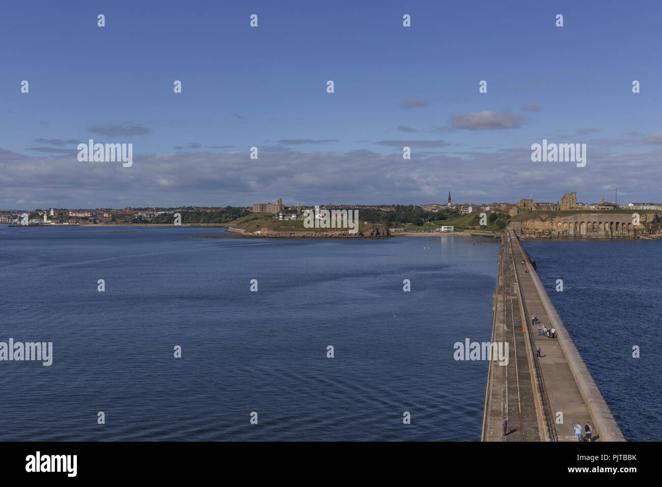Looking towards Tynemouth from the top of the pier. Stock Photo