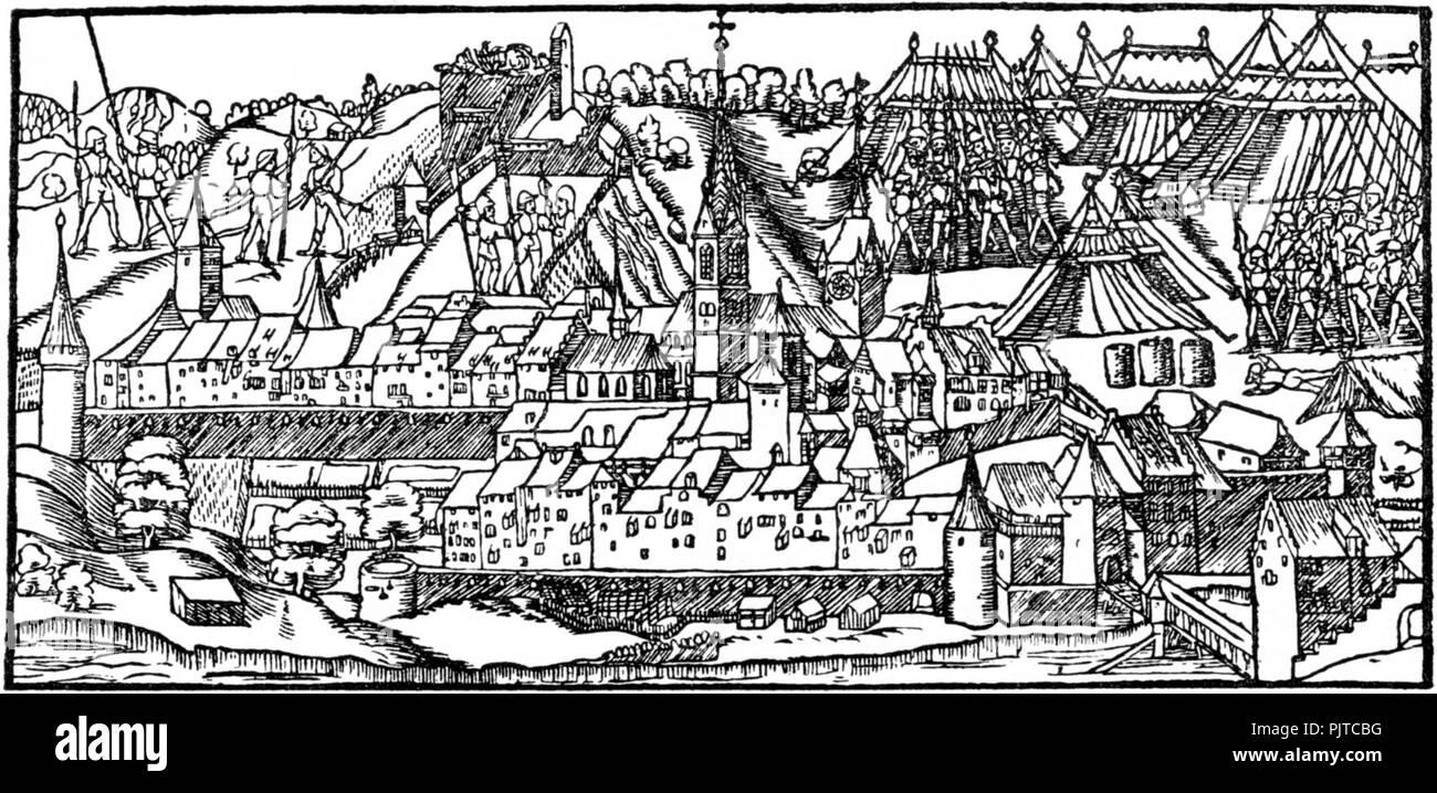 Belagerung Baden stumpf. Stock Photo