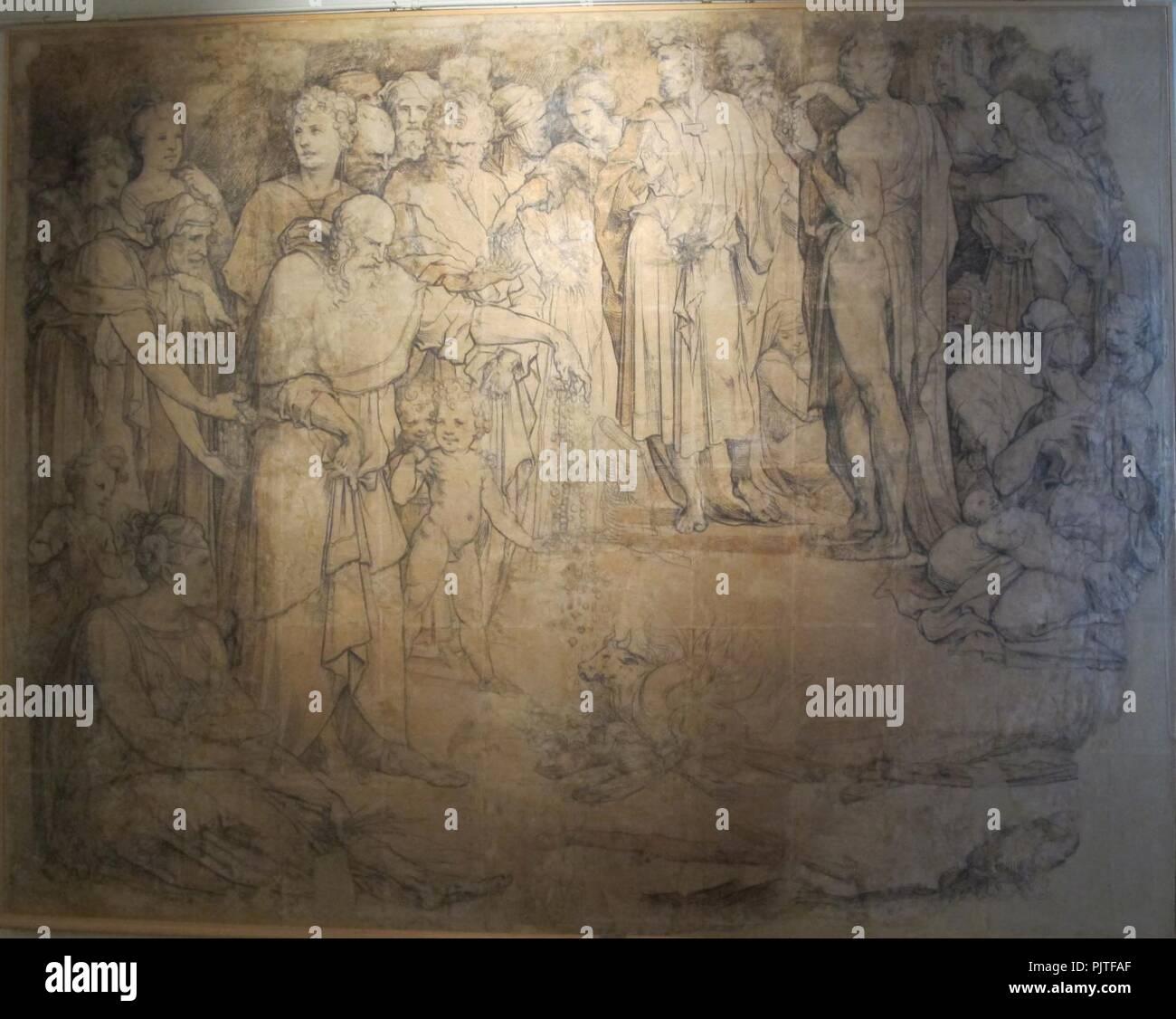 Beccafumi, cartone per pavimento duomo diena, 1529-1531, 03. Stock Photo