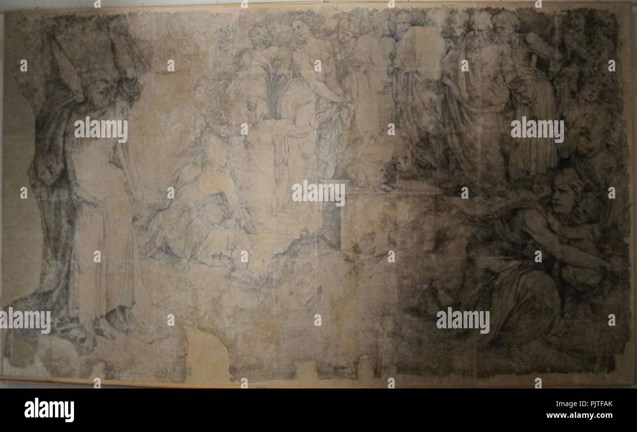 Beccafumi, cartone per pavimento duomo diena, 1529-1531, 06. Stock Photo