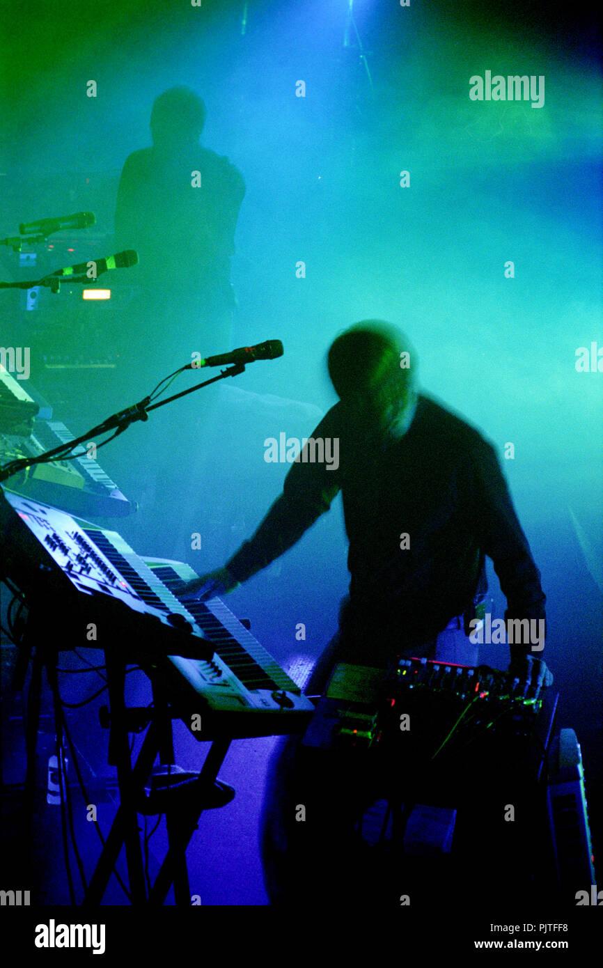 Concert of the Norwegian electro group Royksopp in the Ancienne Belgique, Brussels (Belgium, 22/10/2005) - Stock Image