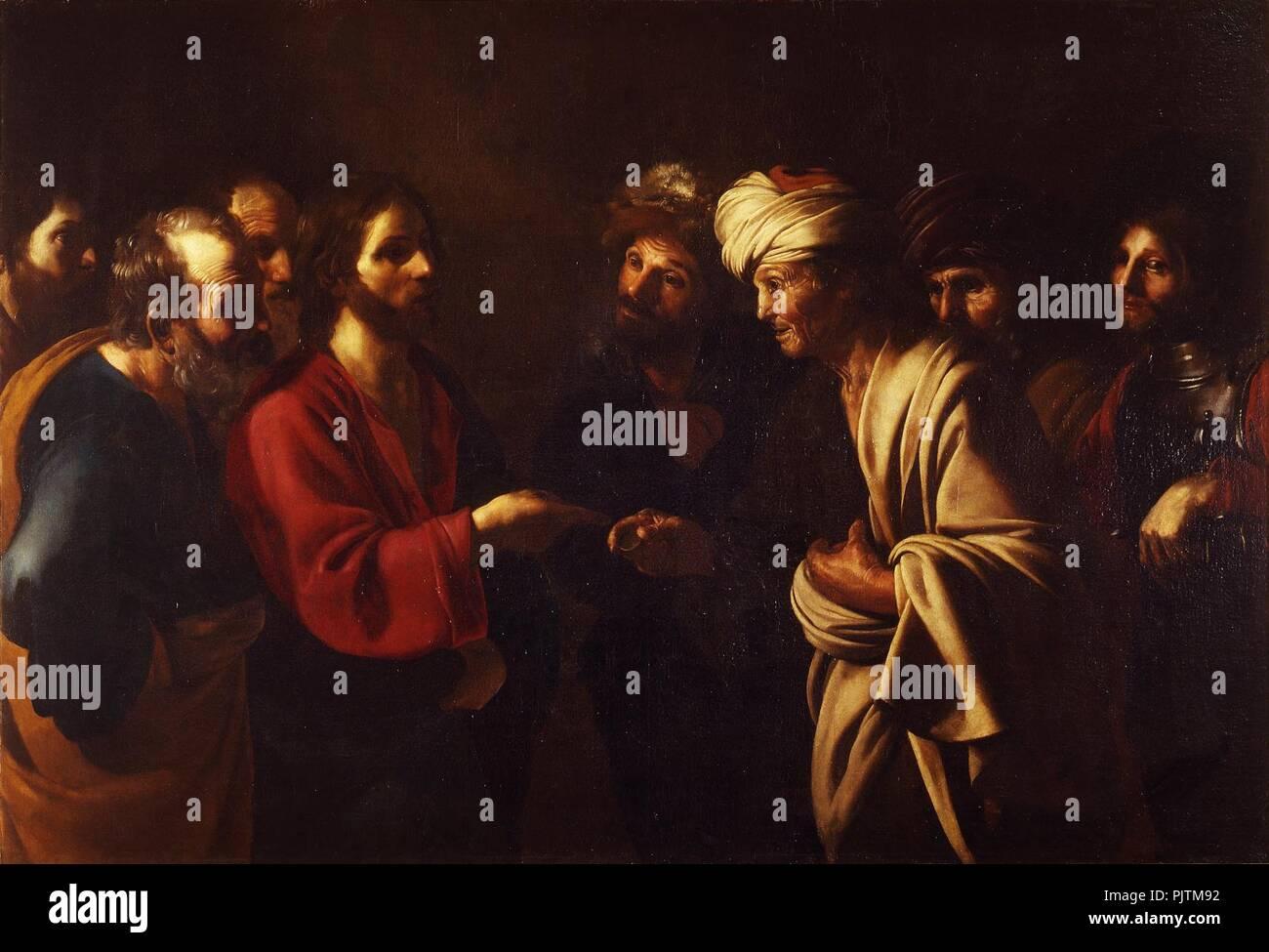 Bartolomeo Manfredi - Il tributo a Cesare - . - Stock Image
