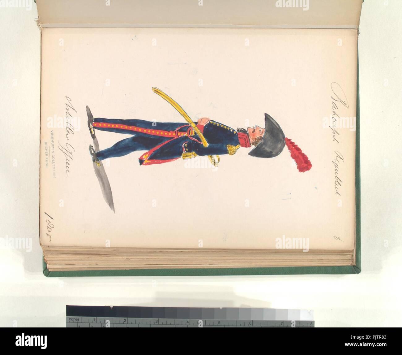 Bataafsche Republiek. Artillerie Officier. 1805 - Stock Image