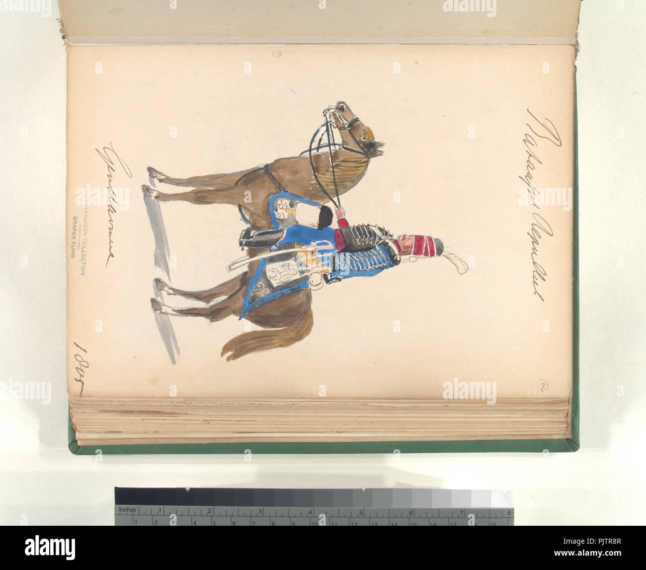 Bataafsche Republiek. Gendarmerie. 1805 - Stock Image