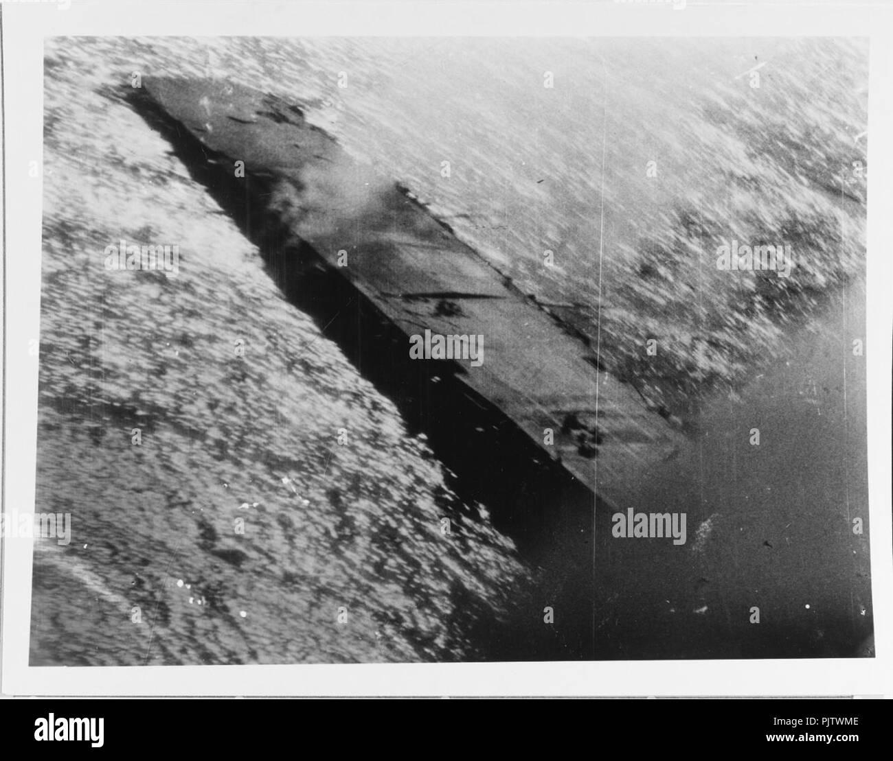 Battle of Leyte Gulf, October 1944. Japanese carrier ZUIHO. - Stock Image