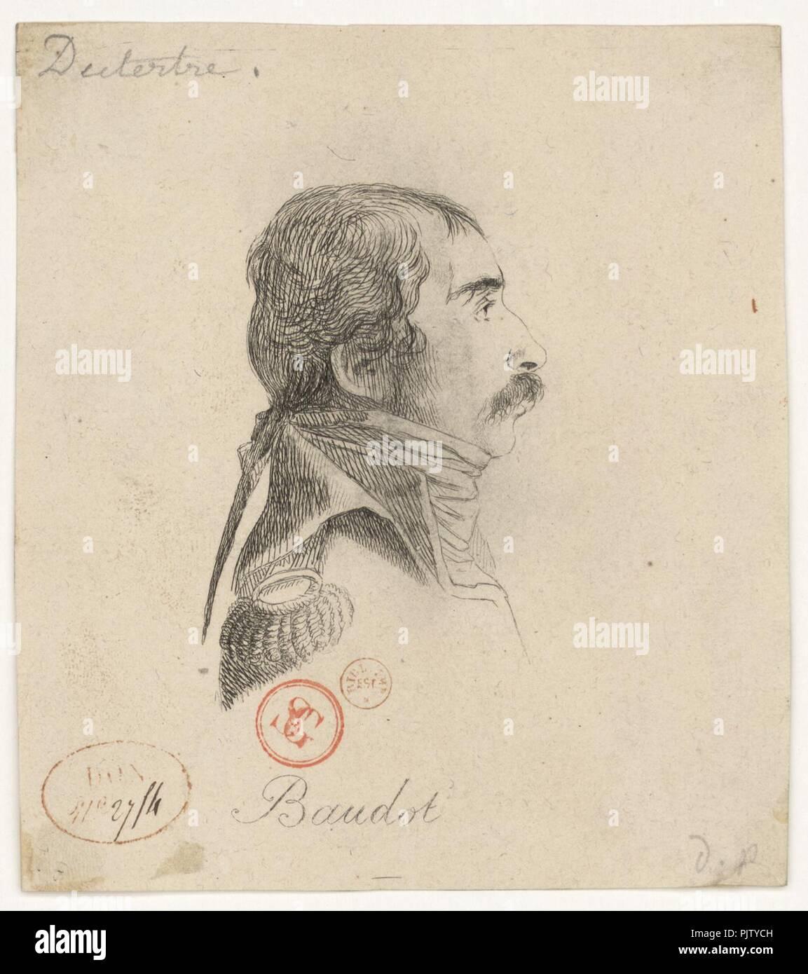 Baudot Marc Antoine 1765-1837). Stock Photo