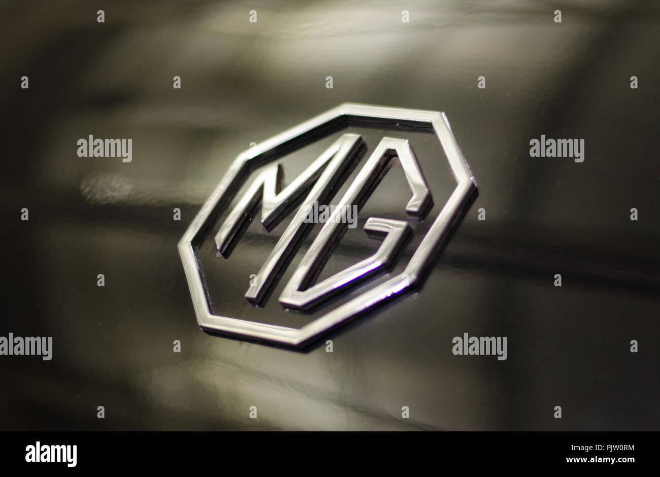 MG logo - Stock Image