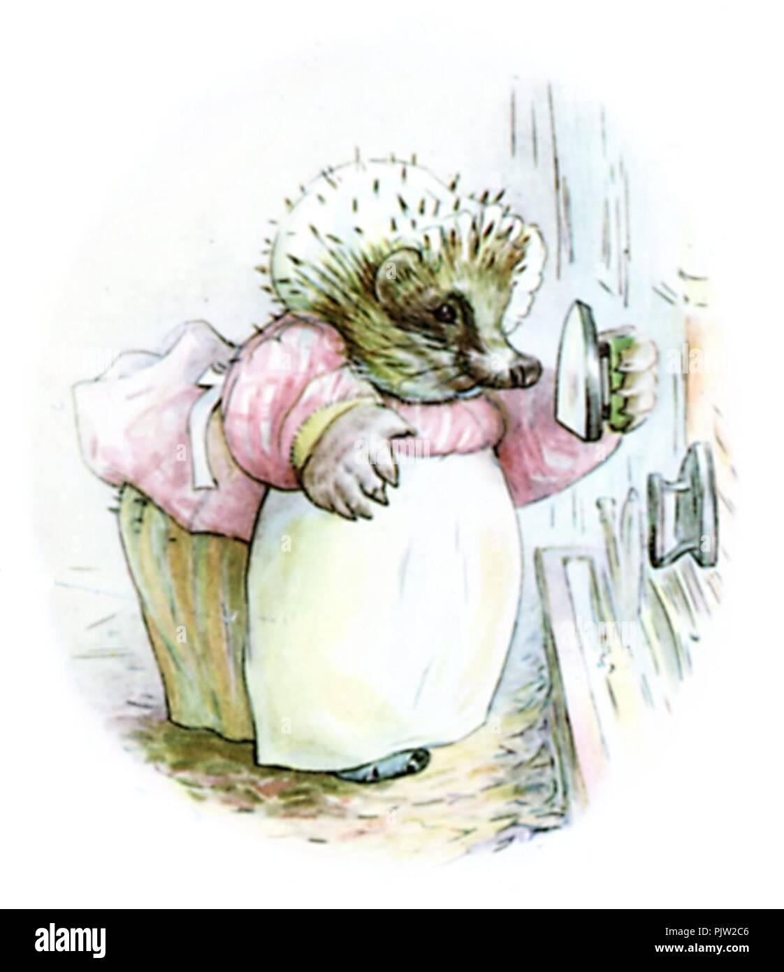 Beatrix Potter, Mrs Tiggy-Winkle, Frontispiece. - Stock Image
