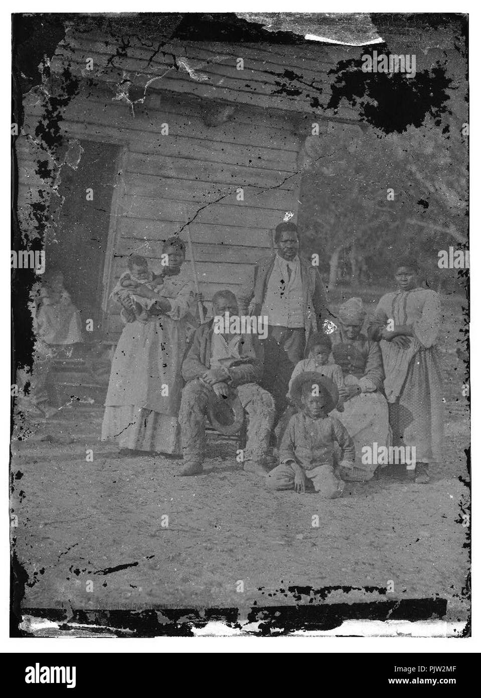 Beaufort, South Carolina. Negro family representing several generations. All born on the plantation of J.J. Smith - Stock Image