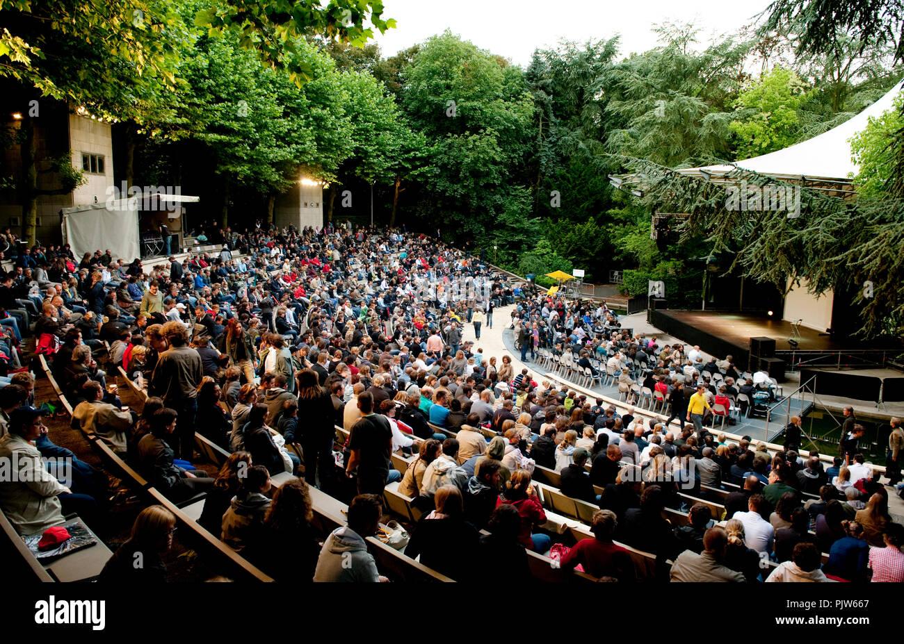 The open air theatre Rivierenhof in Deurne, Antwerp (Belgium, 08/07/2009) Stock Photo