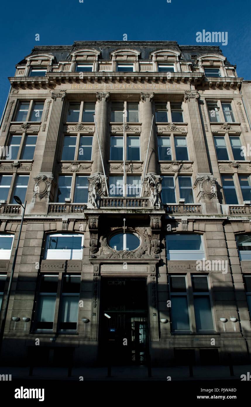 The Antwerp Diamond Exchange Bourse (Belgium, 18/03/2009) - Stock Image