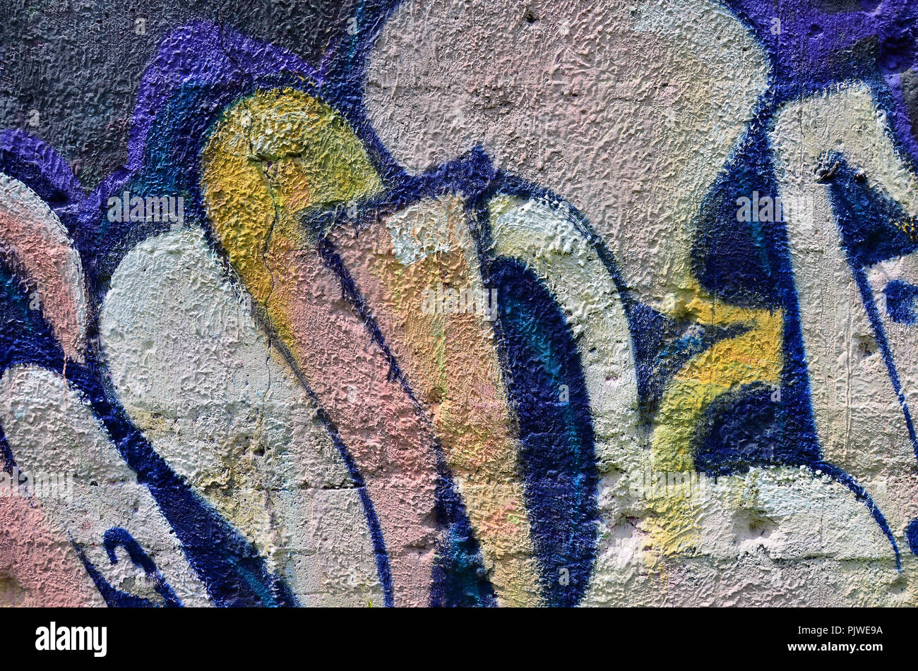 Beautiful street art graffiti abstract color creative drawing fashion colors on the walls of the city urban contemporary culture title paint on wal