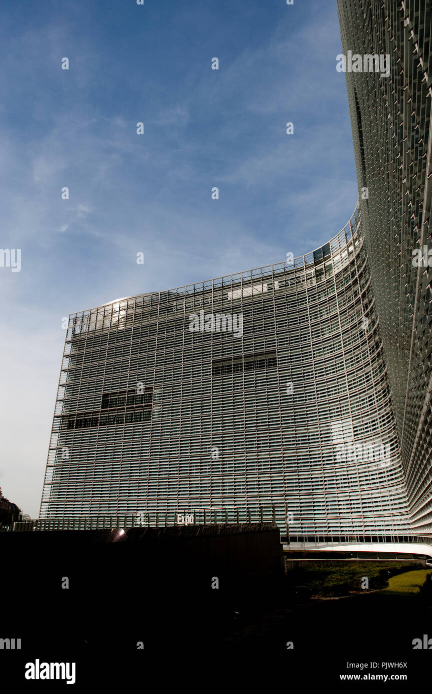 The Berlaymont building of the European Commission in Brussels (Belgium, 29/04/2010) - Stock Image