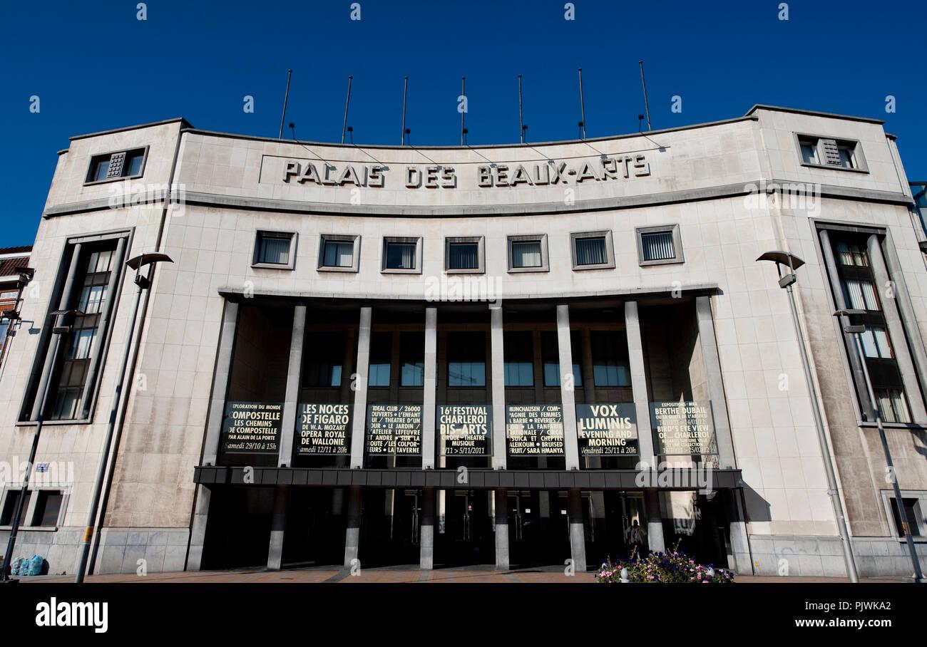 The art deco style Palais des Beaux-Arts in Charleroi (Belgium, 24/10/2011) Stock Photo