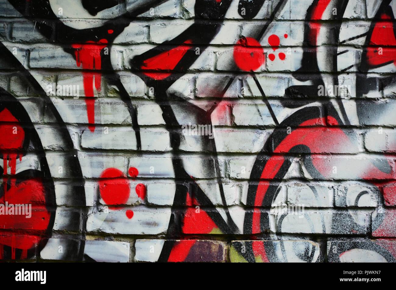 Beautiful Abstract Gentle Graffiti Pattern