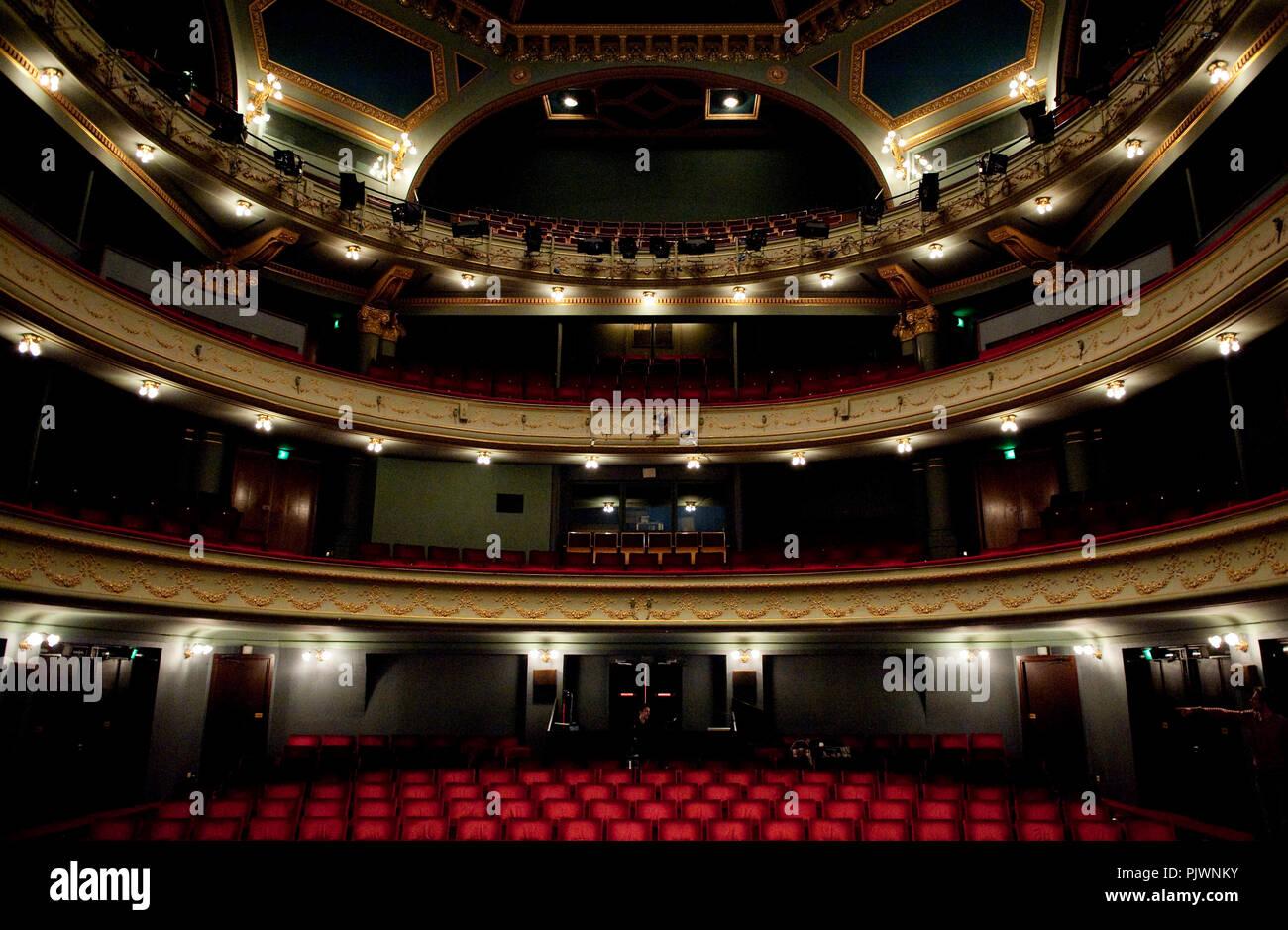 The Koninklijke Nederlandse Schouwburg in Ghent, home of the NTG theatre company (Belgium, 02/11/2008) - Stock Image